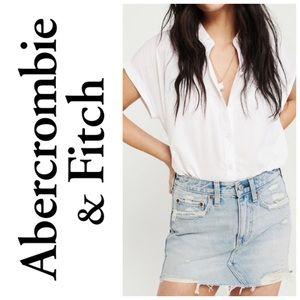Abercrombie Distressed Denim Mini Skirt Size 0